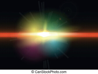 Abstract lighting vector background
