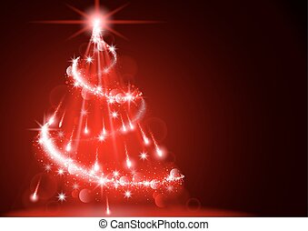 Abstract Lightning Christmas Tree