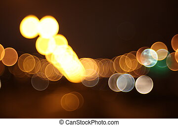 Abstract lights, airport , night city