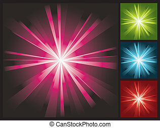 abstract lights background with sunburst