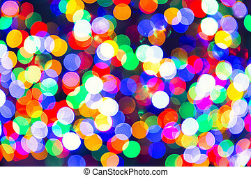 Abstract lights, Blurry pattern of colorful decoration lights