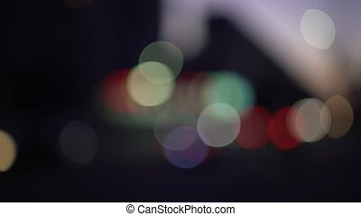 Abstract lights car headlights bokeh background - Abstract...