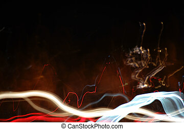 Abstract lights in the night