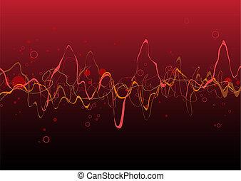 abstract, lijnen, rode achtergrond