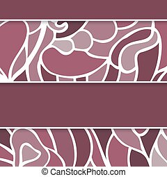 Abstract lilac greeting card with swirls motives