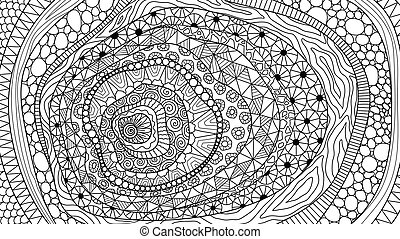 Abstract line art for background, print on product and adult coloring book