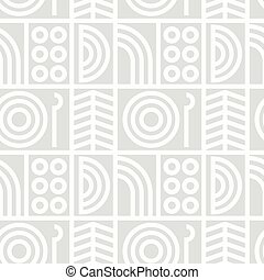 Abstract line art seamless pattern