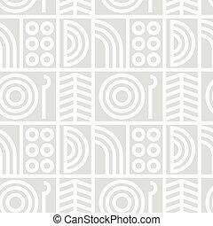 Abstract line art seamless pattern