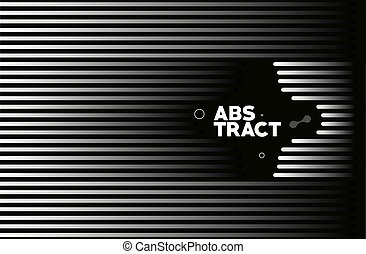 Abstract line art text poster, vector illustration Design.
