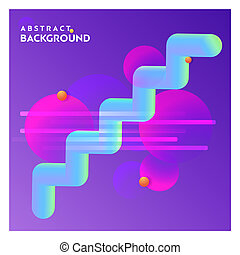 Abstract line background with purple background vector