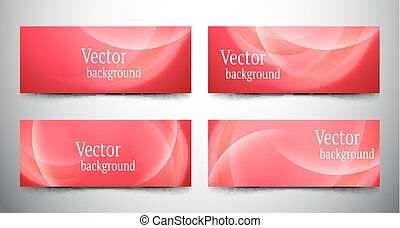 abstract line banner set