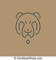 Abstract Line Drawing Of Bear Head