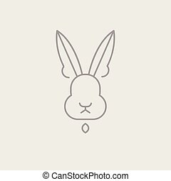 Abstract Line Drawing Of Rabbit Head