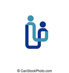abstract line Family logo concept