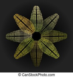 Abstract line in flower shape