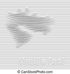 Abstract line of Middle East map on vector graphic art.