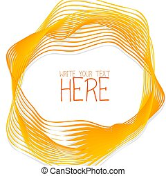 Abstract line template summer yellow background