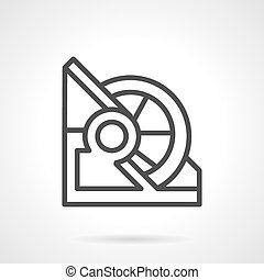 Abstract line vector icon for winch