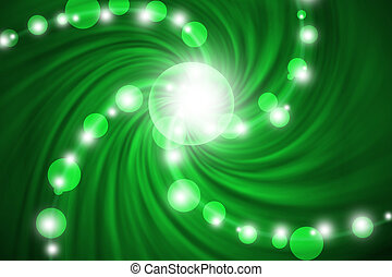 abstract line with swirl green background