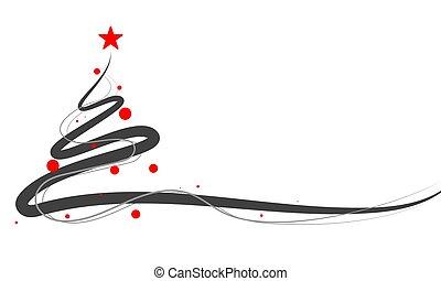 abstract linear christmas tree