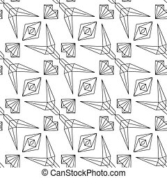 Abstract linear seamless pattern on white background