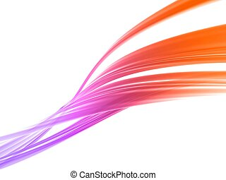3d rendered illustration of an abstract colorful background