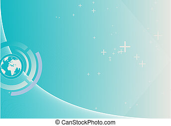 abstract lines background - composition of curved lines--...