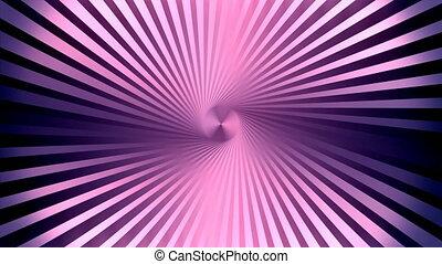 Abstract lines moving along a circular pivot. Seamless loop.