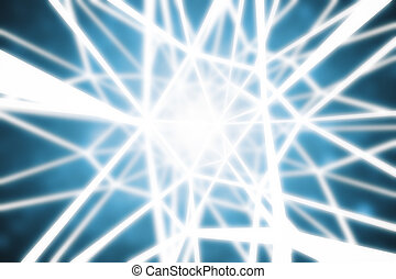 Abstract lines on blue background - Abstract bright lines on...