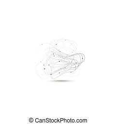 Abstract lines on the gray background