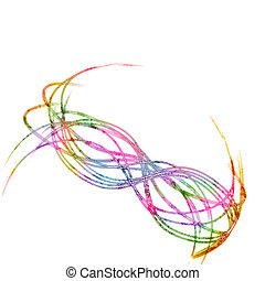 Abstract lines on white background