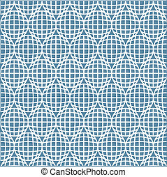 abstract lines with circle seamless pattern background