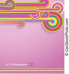 Abstract lines with pink background.