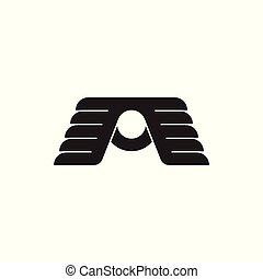 abstract linked wings logo vector