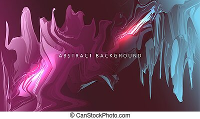 abstract liquid background. vector oil form in space. transition from pink to blue. illustration for text. Background for your design.