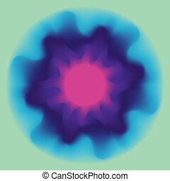 Abstract liquid round background in violet and blue colors....