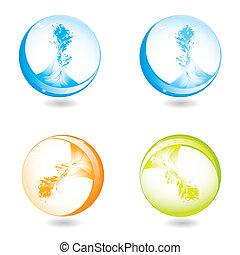 abstract liquid splash