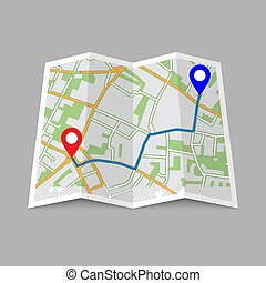 Abstract location City Map