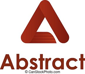 Abstract logo. A letter logotype de