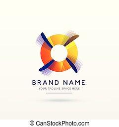 abstract logo concept design vector