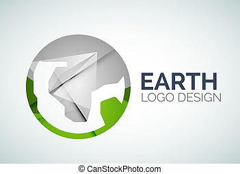 logo design made of color pieces