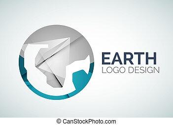 logo design made of color pieces