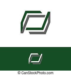 the simple elegant logo of three square