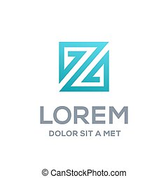 Abstract logo icon design template elements with letter Z