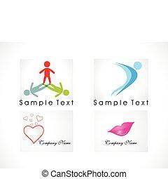 abstract logo icon set