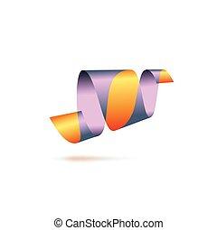 Abstract logo, ribbon sign