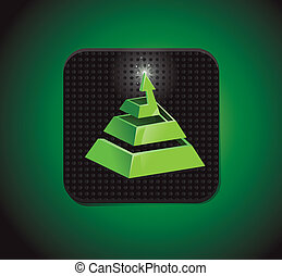 abstract logo - square application icon with arrow - vector ...