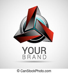 Abstract logo technology volume red interfaces applications