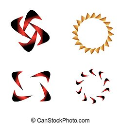 Abstract Logo template set