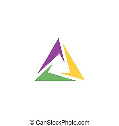 abstract logo triangle business tech symbol element